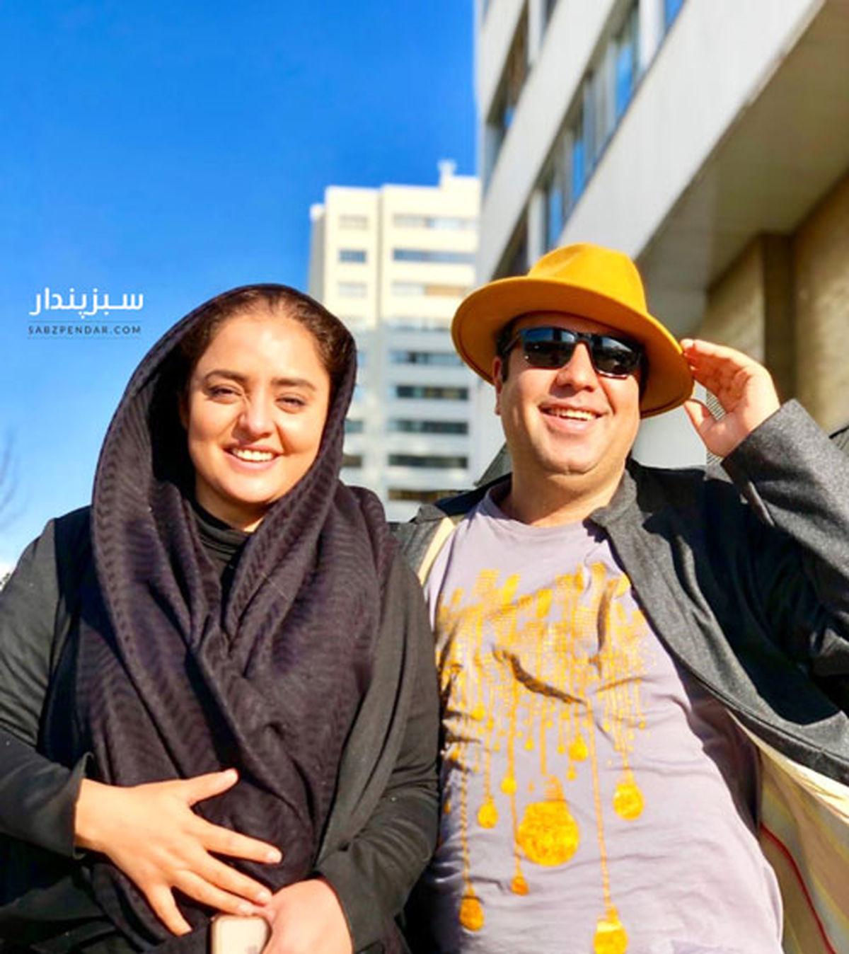 تصاویر لورفته از علی اوجی و نرگس محمدی در جزیره هرمز +تصاویر خانوادگی علی اوجی