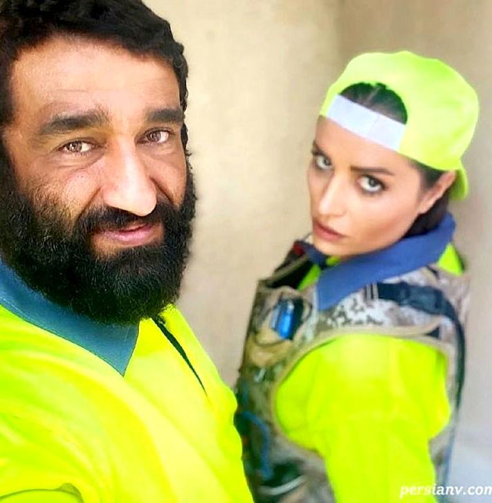 سلفی خاص پژمان جمشیدی با زن لبنانی+عکس