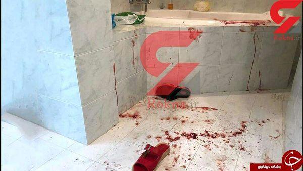 اولین تصویر منتشرشده از صحنه قتل همسر محمدعلی نجفی در وان خونین +عکس