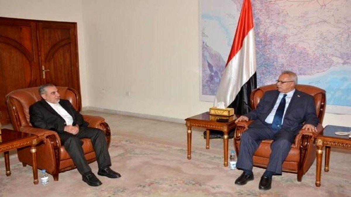 دیدار سفیر ایران با نخست وزیر یمن