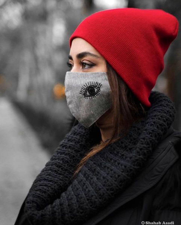 ماسک خلاقانه بهاره کیان افشار+عکس