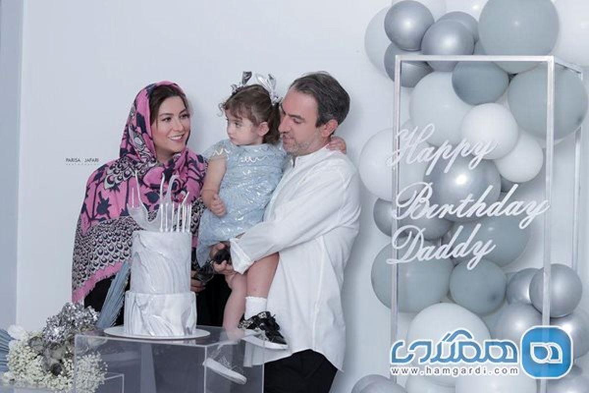 سنگ تمام فریبا نادری برای تولد همسرش + عکس