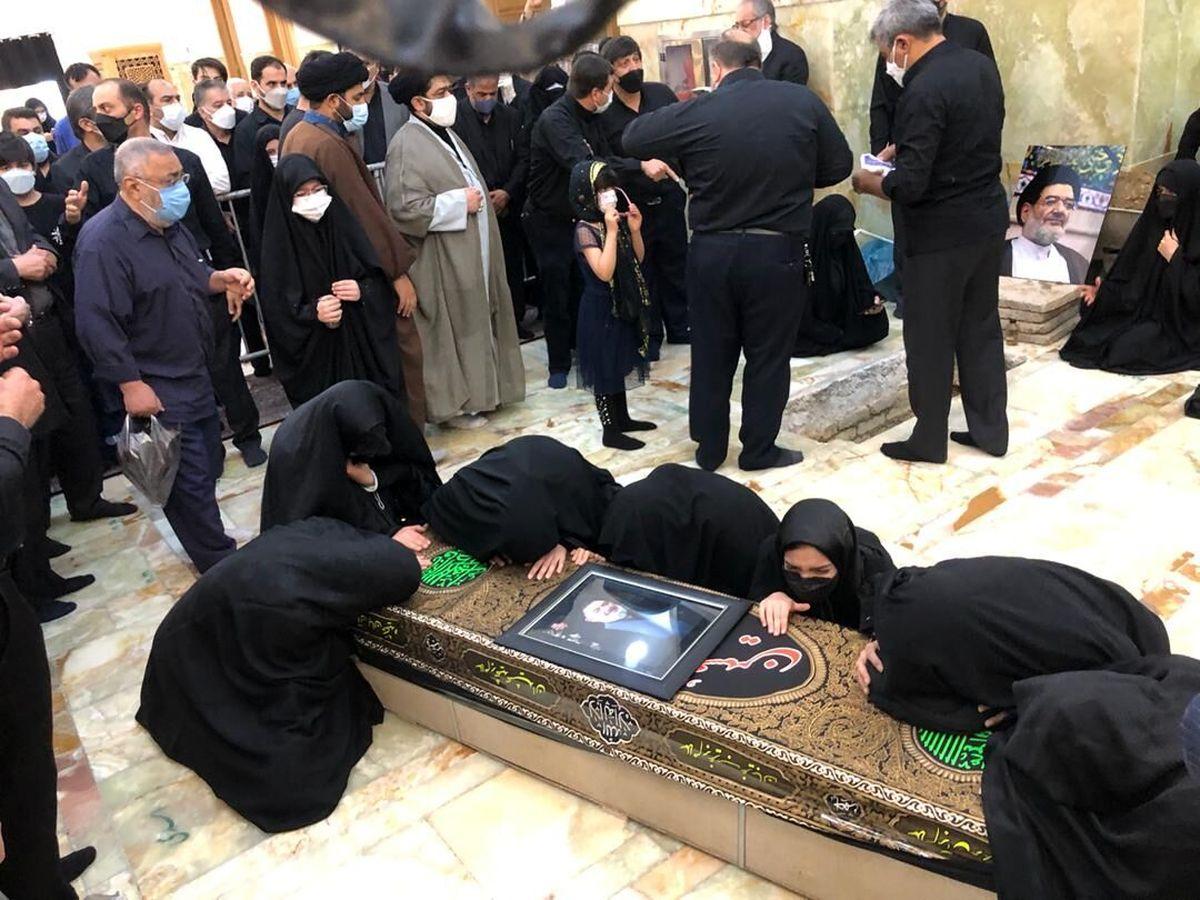پیکر حجت الاسلام محتشمی پور در حرم حضرت عبدالعظیم(ع) آرام گرفت