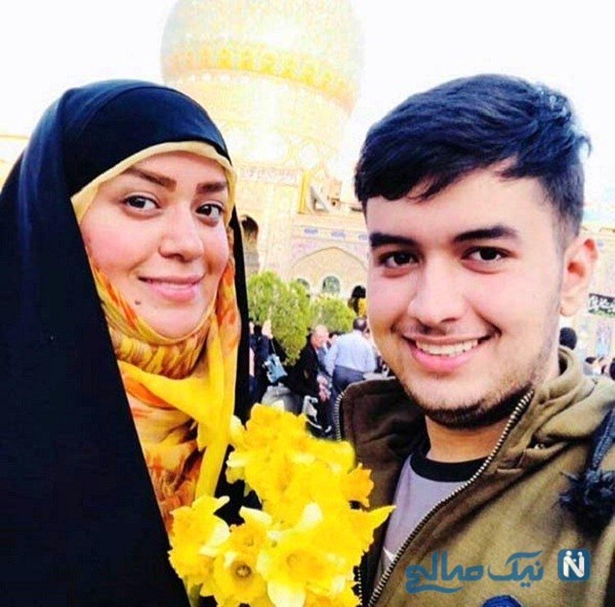 اظهار نظر جنجالی پسر الهام چرخنده درباره مادرش! +عکس همسر دومش
