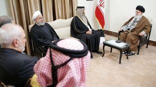 تصویر امیر قطر در دیدار با رهبرمعظم انقلاب