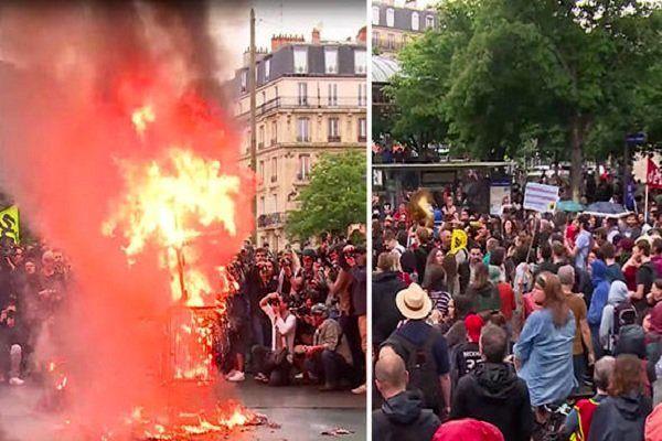 دهها مدرسه در فرانسه تعطیل و سوخت در مناطق غربی نایاب شد