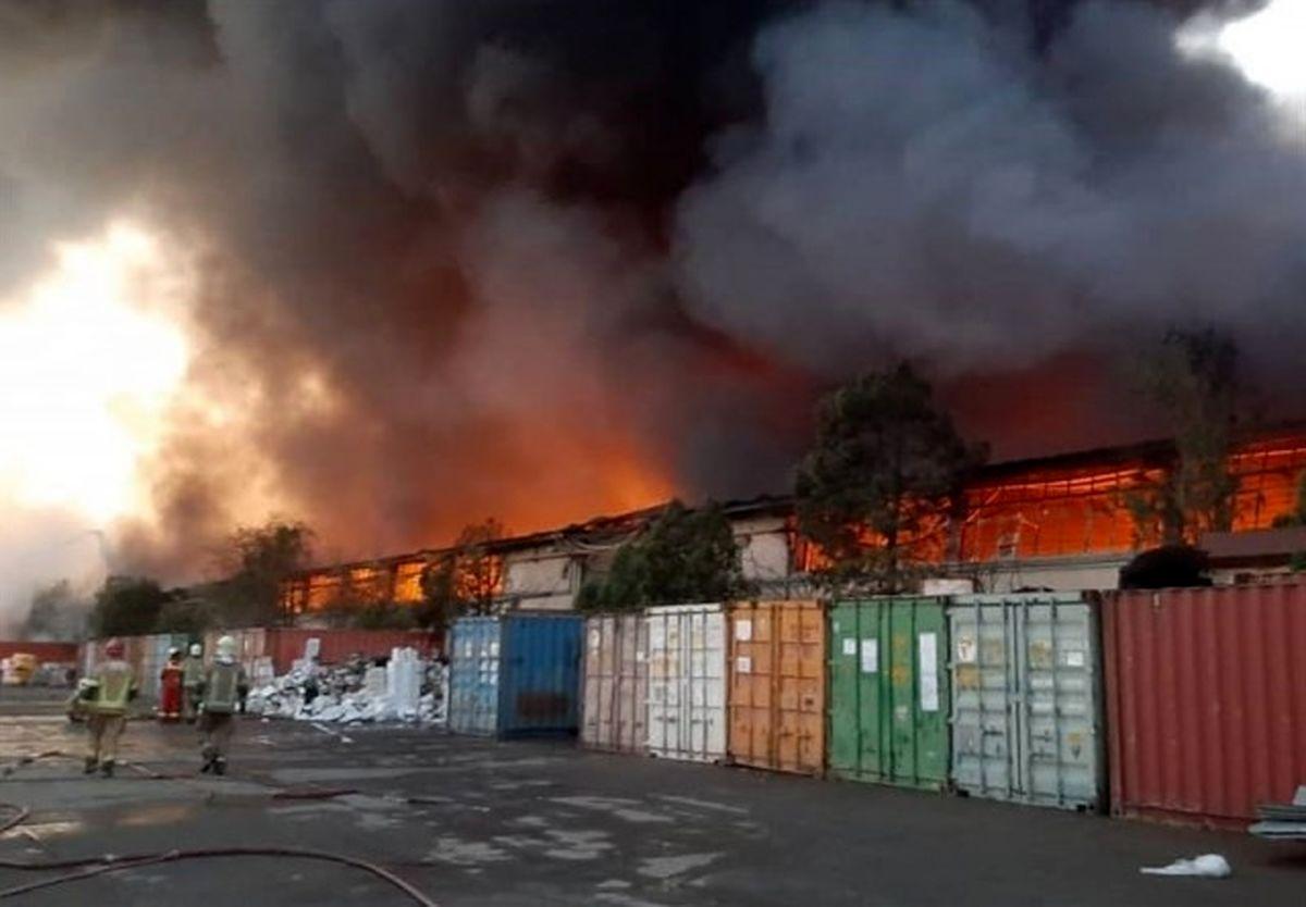 اموال توقیف شده مردم در آتش؛ انبارهای اموال تملیکی استان تهران آتش گرفت