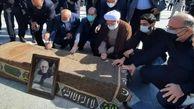 پیکر حاج حیدر رحیمپور ازغدی در حرم مطهر رضوی آرام گرفت