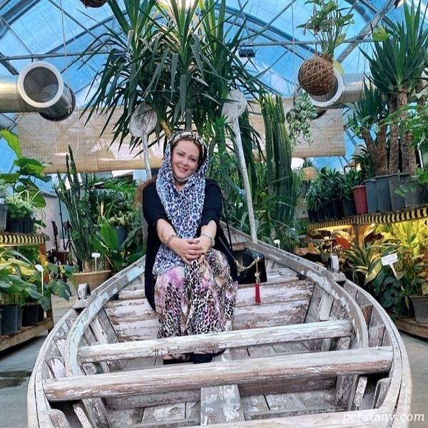 قایق سواری بهاره رهنما در روزهای کرونایی + عکس