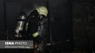 حادثه آتش سوزی شدید در شیراز+تصاویر
