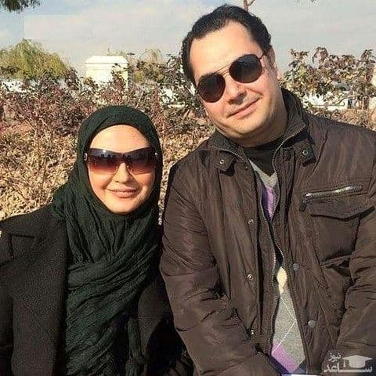 عکسی کمتر دیدهشده از لعیا زنگنه و همسرش