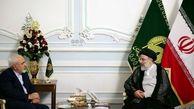 ظریف با  رئیسی  در حرم مطهر رضوی دیدار کرد/ عکس
