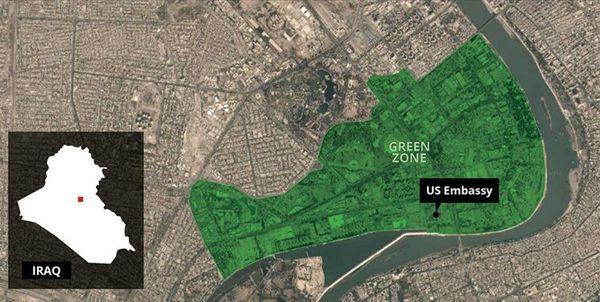 سفارت آمریکا در بغداد با موشک کاتیوشا هدف قرار گرفت