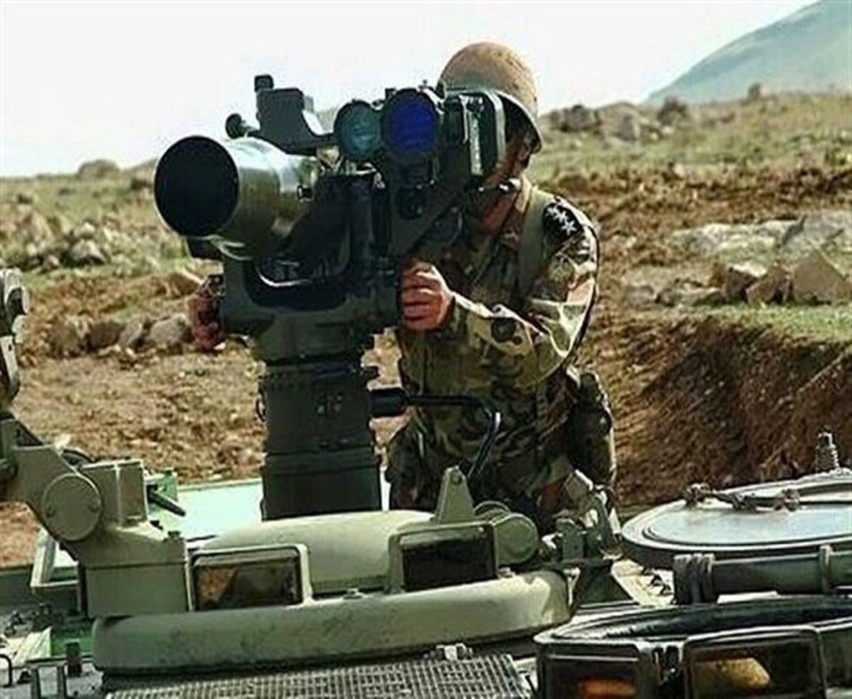 تصویری از موشک ضد زره نیروهای مسلح ایران