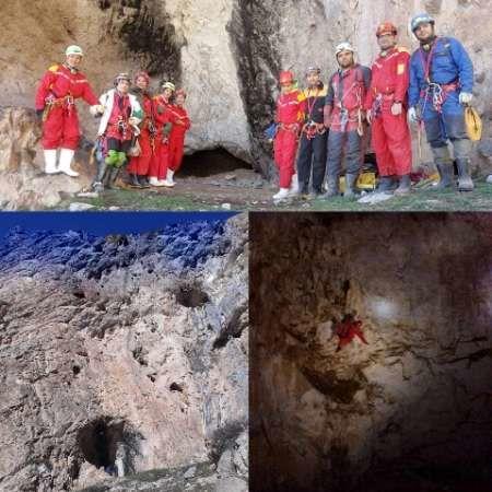 کشف یک غار با 2 دهانه در قزوین