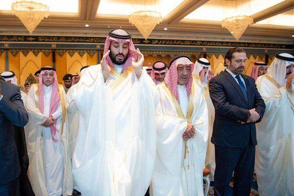 گزارش تصویری/ نماز عید فطر حریری در کنار پادشاه و ولیعهد سعودی