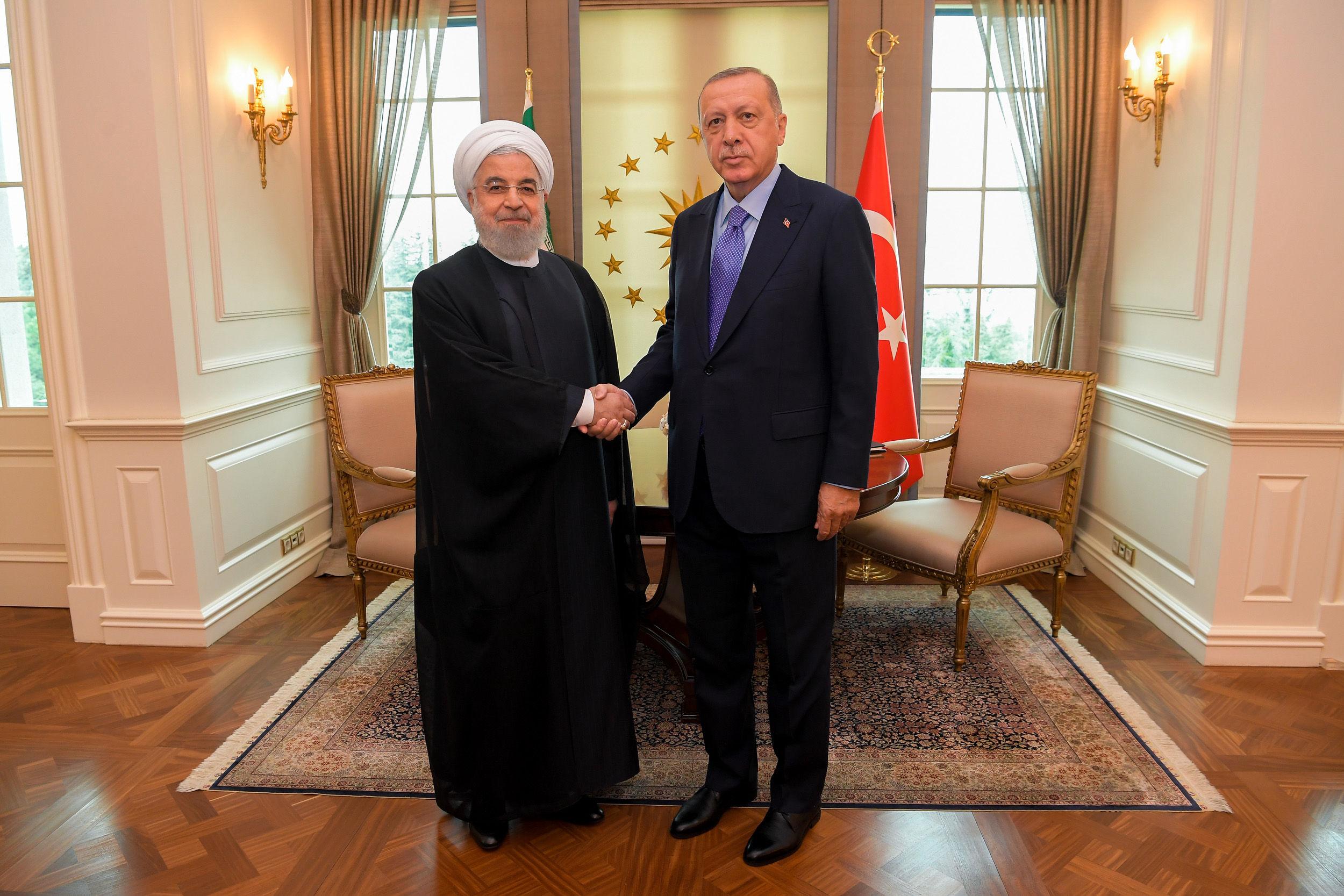 گزارش تصویری/ دیدار روحانی و اردوغان در ترکیه