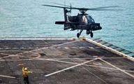 بالگرد نظامی آمریکا در دریا سقوط کرد