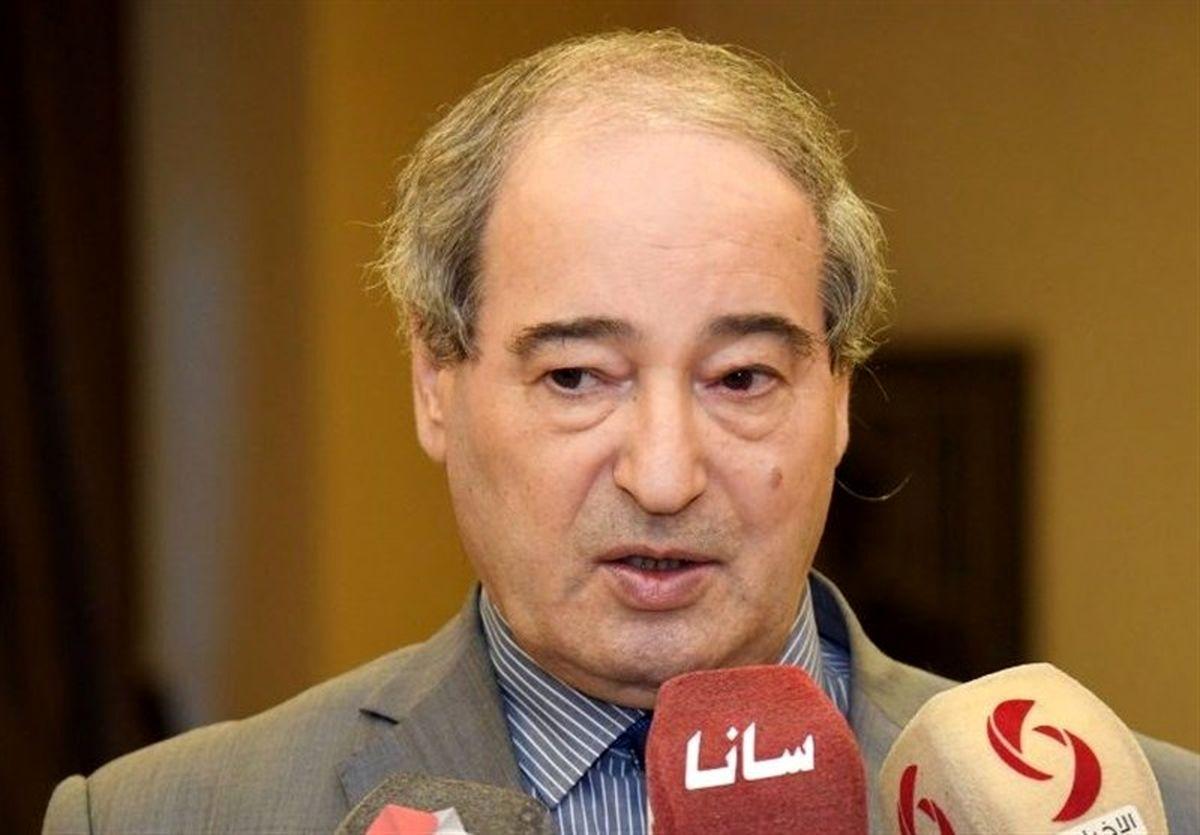 قدردانی وزیر امورخارجه سوریه از نقش ایران در مبارزه با تروریسم