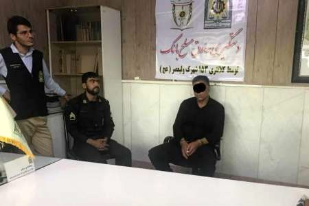 در کمتر از 3 دقیقه سارق مسلح بانک ملی شعبه نعمت آباد تهران دستگیر شد