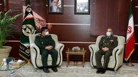 فرمانده نیروی دریایی سپاه به دیدار وزیر دفاع رفت