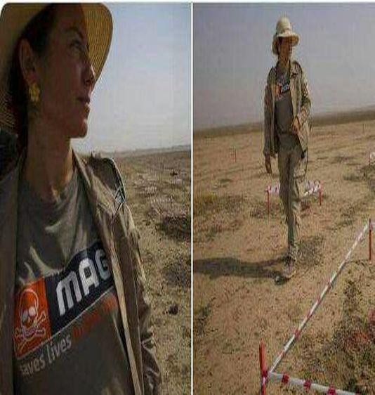 زنان مین یاب + عکس فرمانده