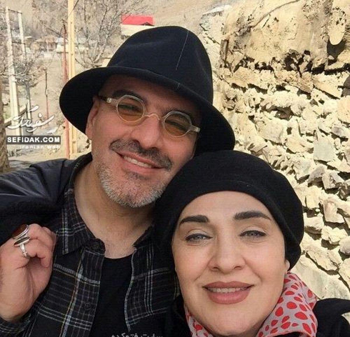 تصاویر لورفته از مسابقه اتومبیلرانی رویا نونهالی و همسرش +عکس