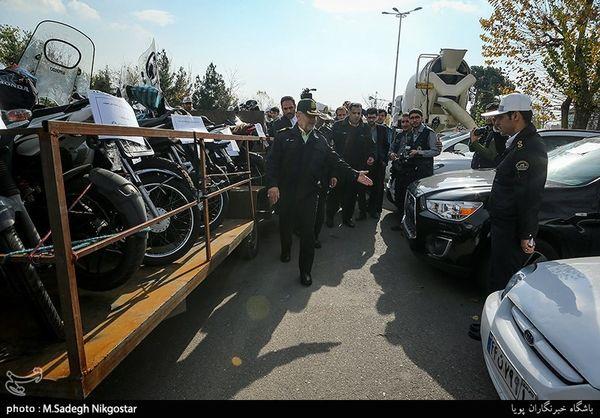 """گزارش تصویری/ توقیف خودروهای لاکچری در نخستین مرحله طرح """"طاهر"""""""