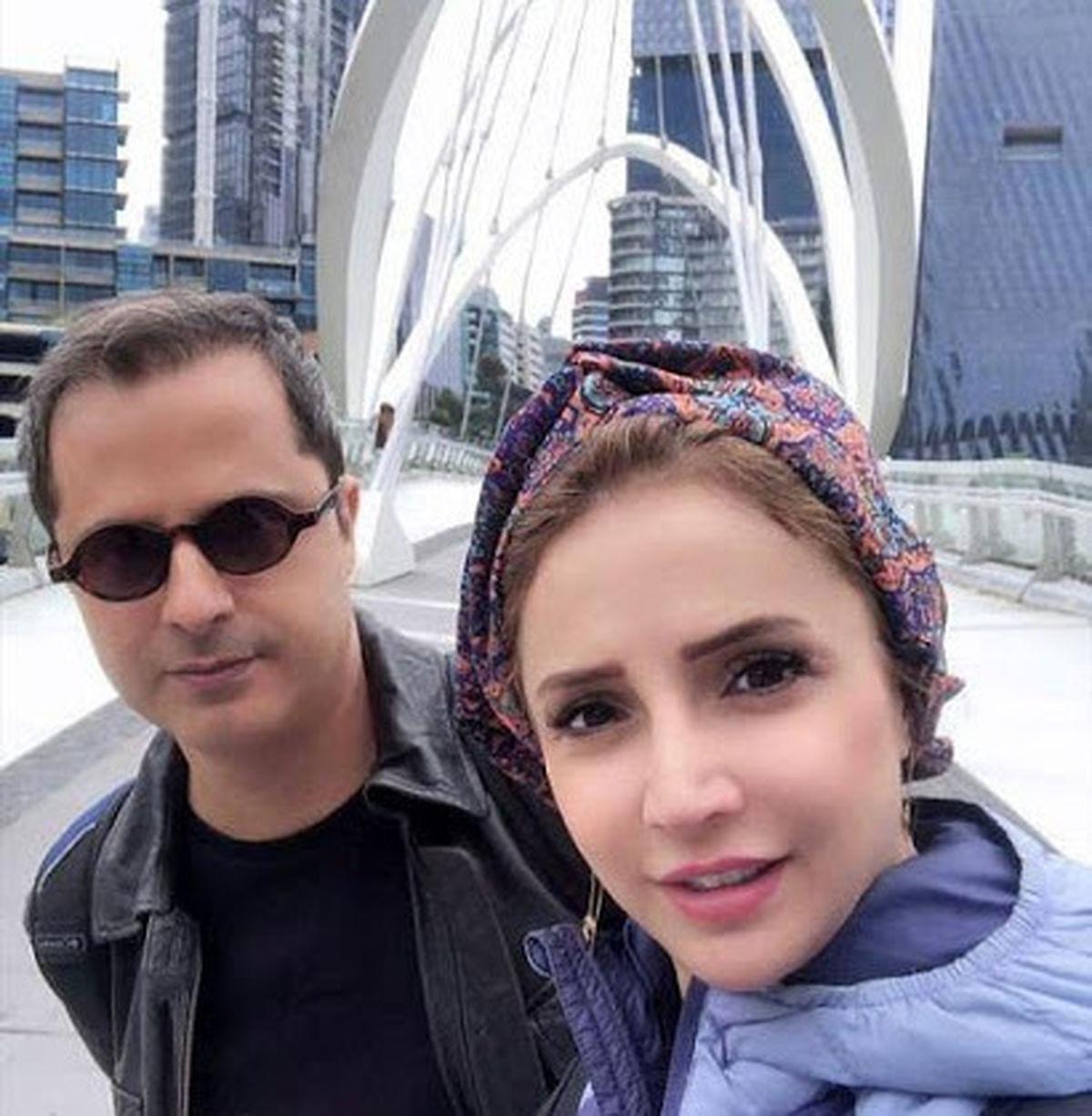 شبنم قلی خانی روی پل معلق سکته کرد! +فیلم