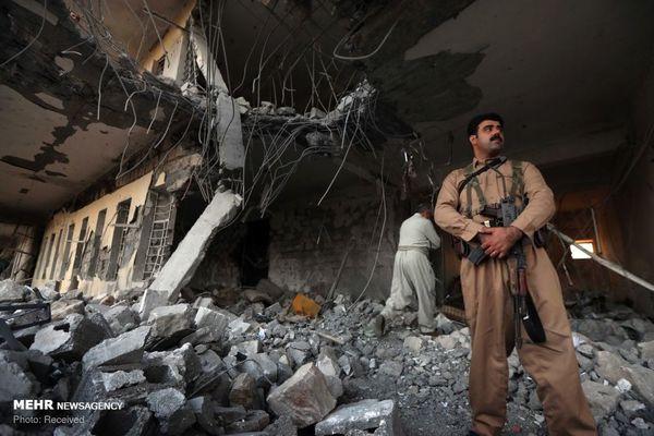 عکس | مقر گروهک تروریستی حزب دموکرات پس از انهدام