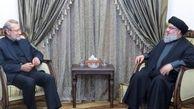 عکس دیدار خصوصی لاریجانی و سید حسن نصرالله + جزئیات
