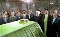 گزارش تصویری/ رئیس جمهور و  اعضای دولت در حرم امام ره