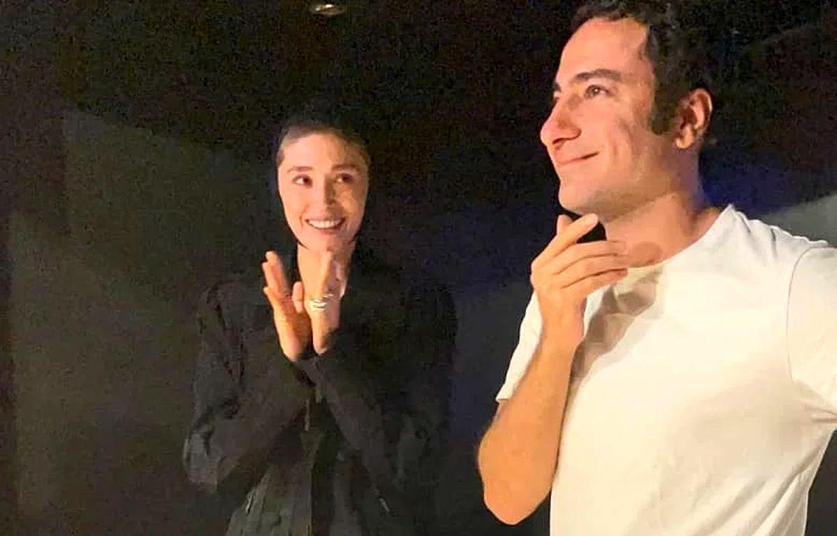 ویدئو عاشقانه فرشته حسینی و نوید محمدزاده غوغا به پا کرد +فیلم جنجالی