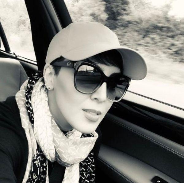 عکس لیلا اوتادی در چالش سیاه و سفید