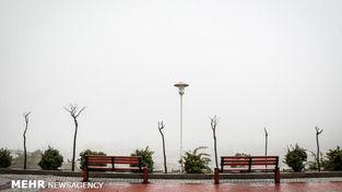 تصاویر کم نظیر از بارش برف یهاری شدید در مشهد