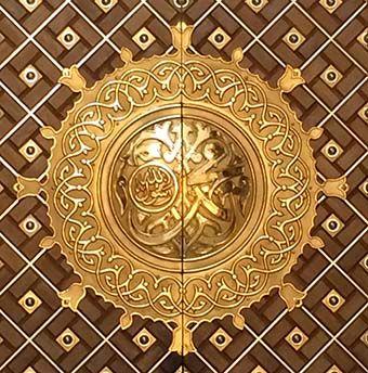 عکس پروفایل مذهبی؛ درب اصلی حرم حضرت محمد(ص)