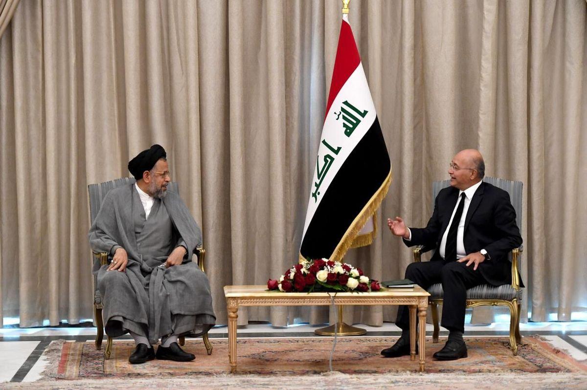 دیدار  وزیر اطلاعات ایران با رئیس جمهوری عراق