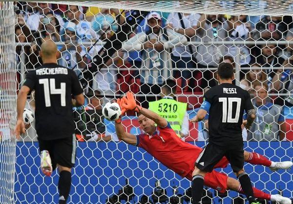 توقف آرژانتین مقابل ایسلند با پنالتی از دست رفته مسی