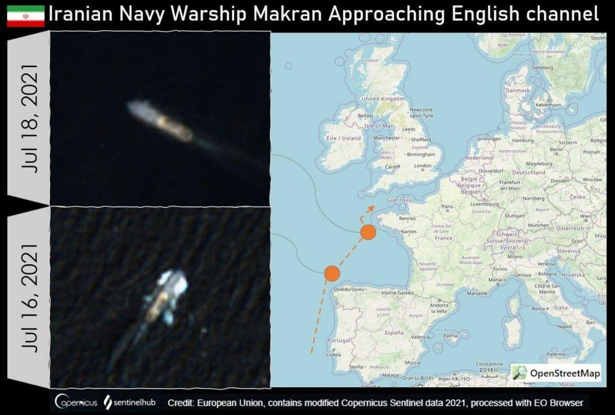 مهم   دو کشتی جنگی ایرانی به سواحل بریتانیا رسیدند + عکس