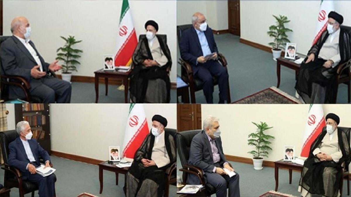 دیدار چهار عضو دولت روحانی با رئیس جمهور منتخب