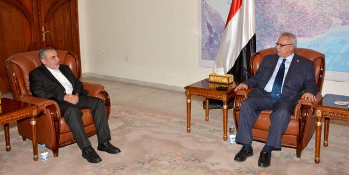 سفیر ایران با نخستوزیر دولت نجات ملی یمن دیدار کرد