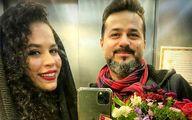ملیکا شریفینیا و پسر عمهاش در آسانسور + عکس