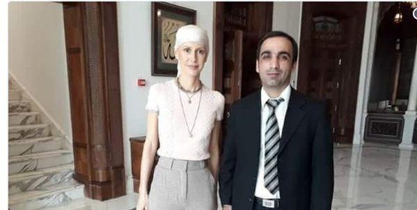 همسر بشار اسد شفا گرفت + عکس