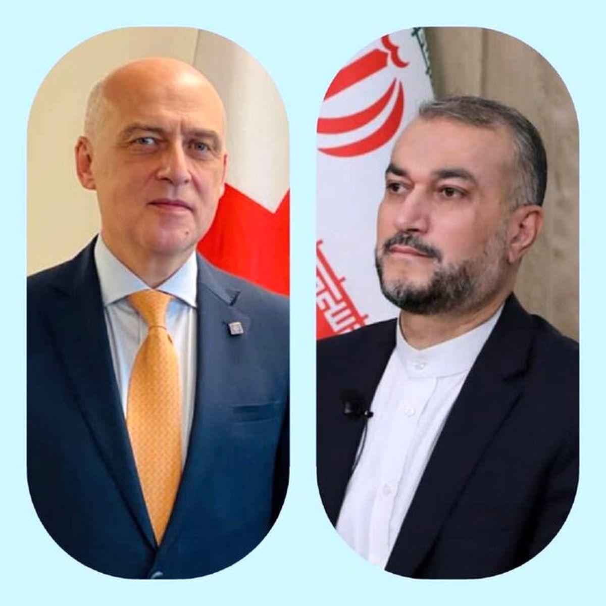 پیام وزیر خارجه گرجستان به امیر عبداللهیان