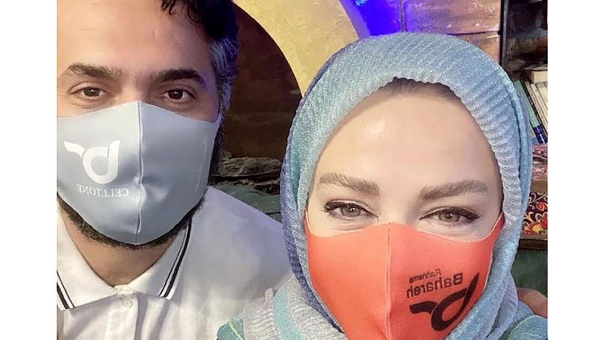 کل کل بهاره رهنما و همسرش در برنامه آشپزی! +ویدئو
