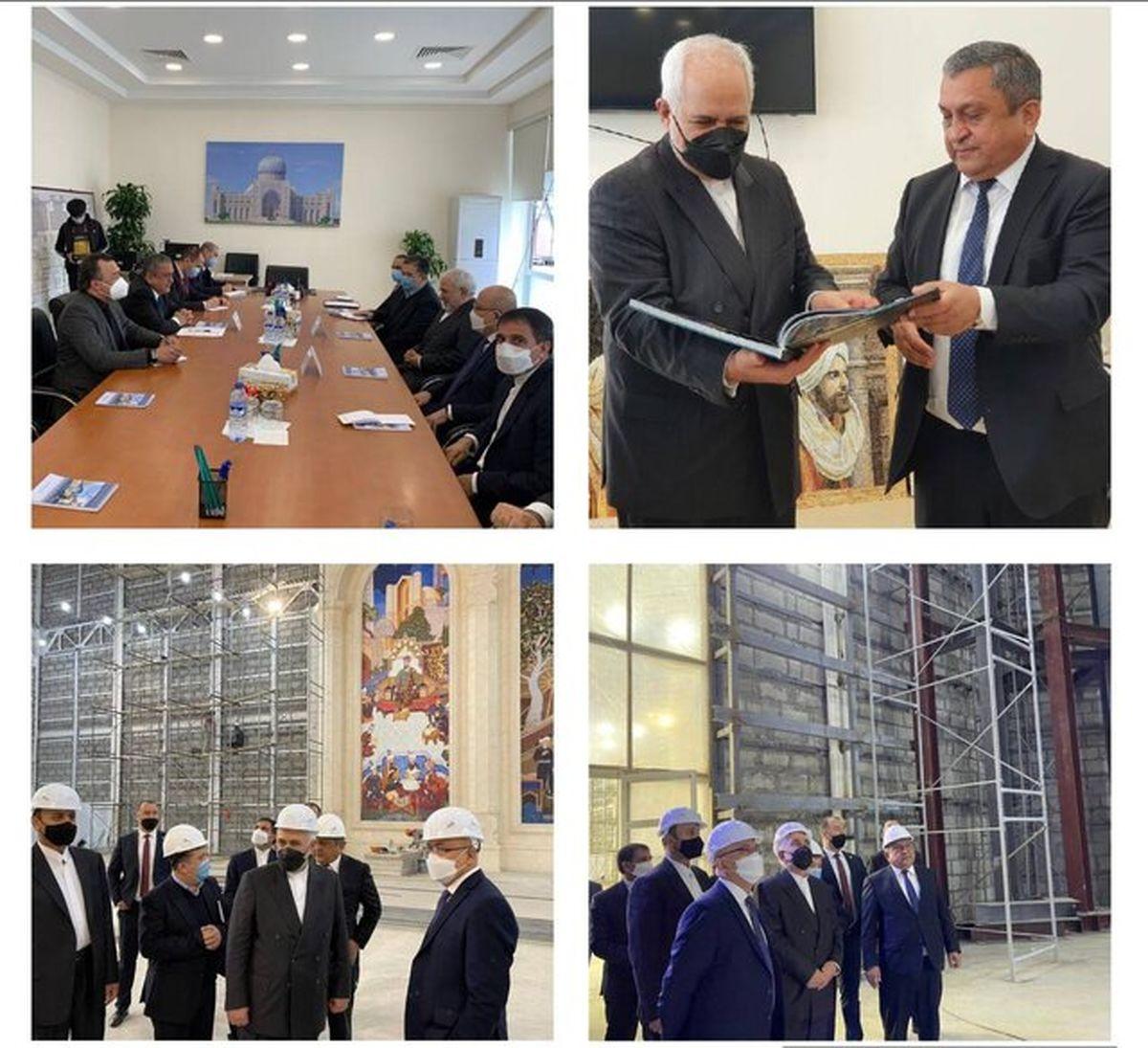 بازدید ظریف از مرکز تمدن اسلامی تاشکند